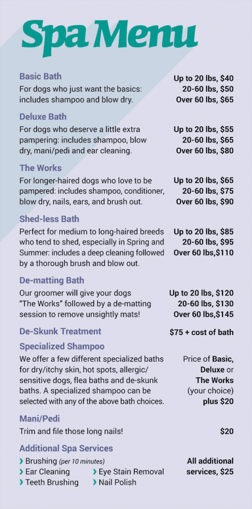 oakland dog grooming pricing